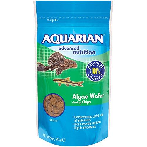 Aquarian Komplettnahrung 255g Beutel, Aquarium Fischfutter sinkende Algen-Wafers für Algenfresser, 1er Pack (1 x 0.266 Grams)