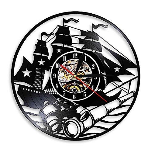 wtnhz Reloj de Pared con Disco de Vinilo LED Reloj de Vinilo de 12' Movimiento de Cuarzo Diseño Único Hecho De Un Disco De Vinilo Retro No Led