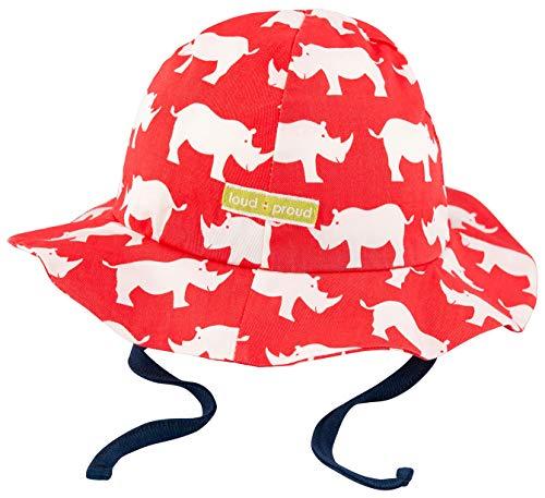 loud + proud Unisex Baby Outdoorhut, aus Bio Baumwolle, GOTS zertiziziert, Rot (Cayenne Cay), 41/43 (Herstellergröße: 74/80)