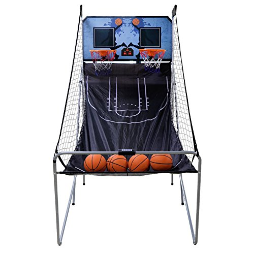 Big Save! Nova Microdermabrasion Foldable Indoor Basketball Arcade Game Double Shot 2 Player W/ 4 Ba...