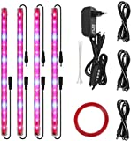 CXhome Plant Light T5 Red & Blue 4 Packs Grow Lights with Auto Cycle Timer 3/6/12Hours 6500K Growing Lamp for Indoor Plants from Seeding to Harvest