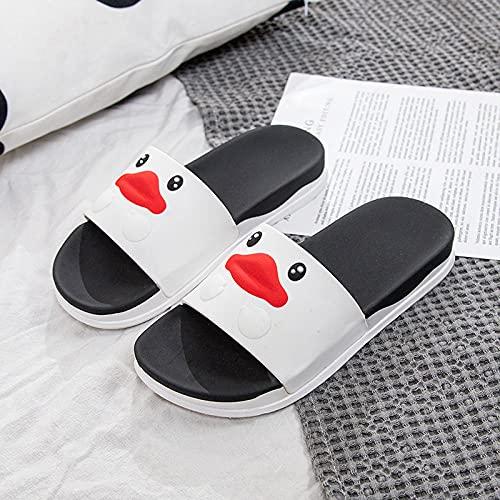 Chanclas Unisex Adulto,Resumen Inglés Slippers Summer, Baño Zapatillas para el hogar-Pato_42-43,Zapatillas Antideslizantes Libre Baño