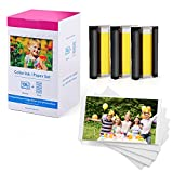 Buyalot Compatible with Canon Selphy KP-108IN KP108 Ink and Photo Paper Set, 3...