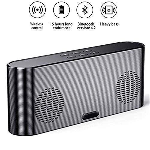 Lautsprecher Intelligente Lautsprecher, tragbarer Bluetooth 4.2-Stereolautsprecher, 360-Grad-Surround-Sound mit 10-Stunden-Wiedergabezeit, 6000-mAh-Powerbank, eingebautes Mikrofon, Dual-Treiber, Heavy