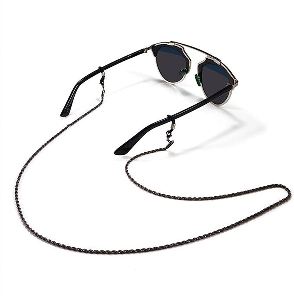 WJCCY Glasses Chain Holder for Twist Chain Metal Lanyard Glasses Strap Sunglasses Cords Casual Glasses Accessories (Color : A, Size : Length-70CM)