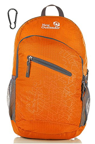Outlander Packable Handy Lightweight Travel Hiking Backpack Daypack-Orange