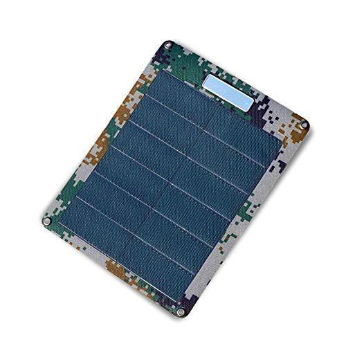 LUUDE zonnepaneel, zonnekern, met zeer licht gewicht van 110 g, USB-oplaadpoort geschikt voor de meeste smart-apparaten op de markt, geschikt voor buiten