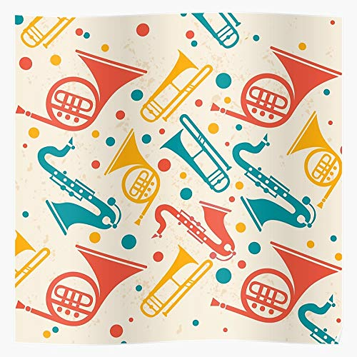 Pep Horns French Horn Band Sax Marching Music Home Decor - Póster de pared