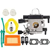 Venseri MM55 Carburetor for MM55 MM55C Tiller Trimmer Zama C1Q-S202A C1Q-S202 Carb Replaces 4601-120-0600 with Air Filter Tune Up Kit
