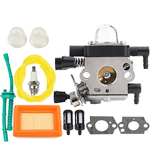 Venseri MM55 Carburetor for MM55 MM55C Tiller Trimmer Zama C1QS202A C1QS202 Carb Replaces 46011200600 with Air Filter Tune Up Kit