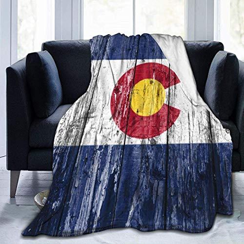Ahdyr Colorado Flag Ultra-Soft Micro Fleece Manta Throw Fuzzy Ligero hipoalergénico Felpa para niños Niños Niñas Adultos Manta con Estampado de Moda 3D 60 'X50'
