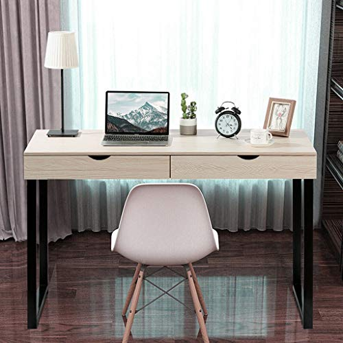 TOUNTLETS Teen White Computer Writing Desk 47' Home Office...