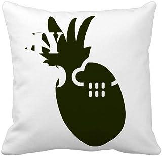 OFFbb-USA - Funda cuadrada para almohada (forma de piña)