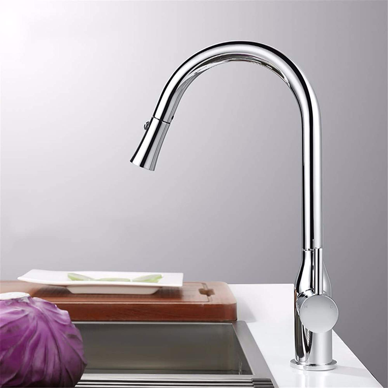 Yuyu19-SLT Waschbecken Wasserhahn Ausziehbare Küchenarmatur Hei Und Kalt Drehbare Teleskopspüle