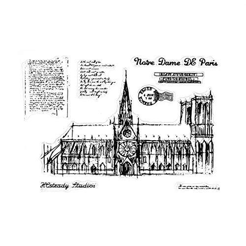 ZChun Notre Dame de Paris transparante siliconen stempel voor DIY scrapbooking fotoalbum decor