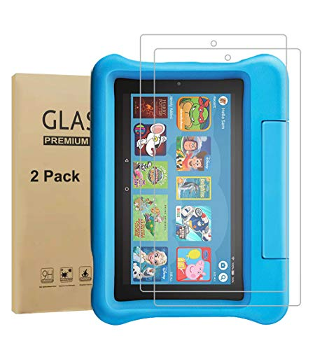 Ebuy Tempered Glass Screen Protector for Fire Kids Edition(7 inch, 2019 & 2017 version), Crystal Clear, 2.5D Curved Edge, Sensitive-touch, Anti Scratch, Bubble-free