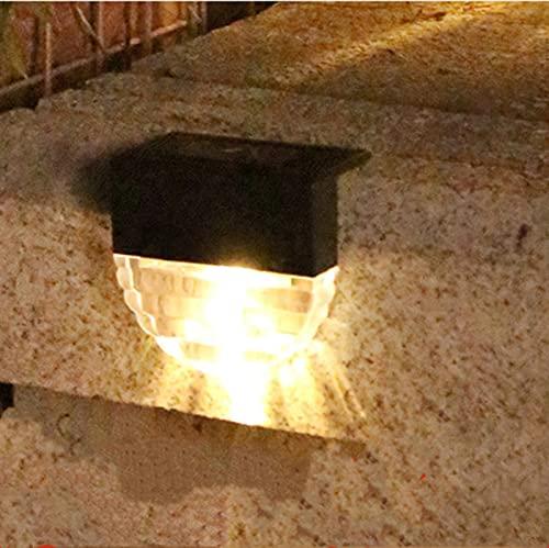 Solarlampen für Außen, Solar Stufenlicht, im Freien wasserdichte Solar Zaun Lampe für Weg, Hof, Terrasse, Treppen, Stufen und Zäune (A)