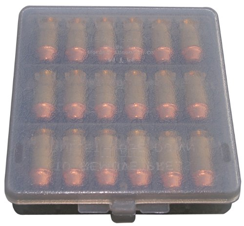 Cheapest Price! MTM 18 Rounds 9MM Cal Case-Gard Ammo Wallet (Clear Smoke)