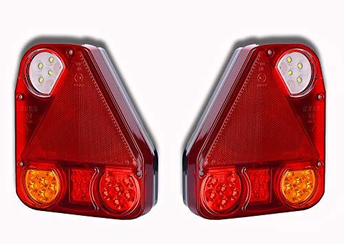 Feux arrière LED 12 V 24 V pour remorque, camion, camping-car, tracteur, caravane, pickup, voiture, bus, ATV - Utilisation universelle