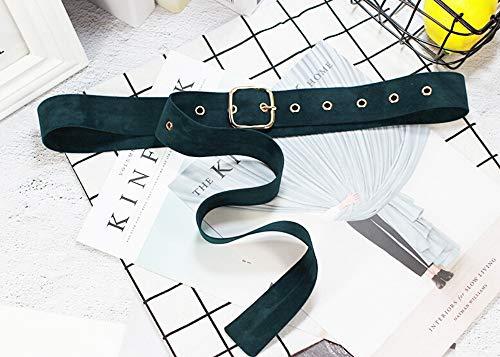 PIDAIKING Damen Gürtel Lange Samt Gürtel Tuch Kleid Gürtel Weiblichen Knoten Grün Schnalle Bund Schmücken Mantel Pullover Gürtel Taille Dichtung Gezeiten