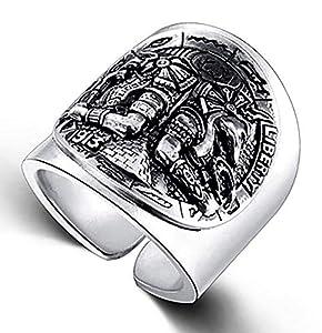 RXSHOUSH Herren-Ring, S925 Silber, ägyptischer Gott Persönlichkeit Offener Ring, Son Freund Geschenk Ring