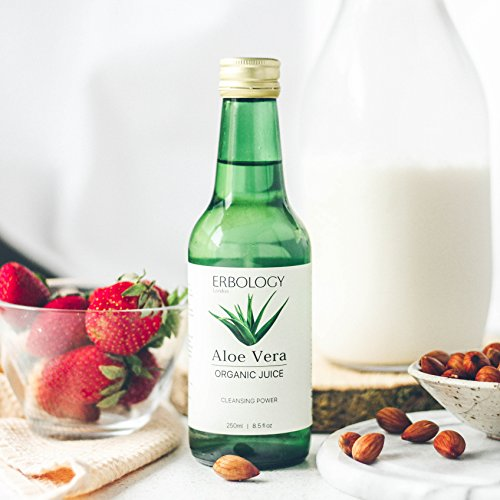 Organic Aloe Vera Juice 8.5 fl oz - Cleansing Power - Inner Leaf - Rich in Acemannan - Premium Food Grade