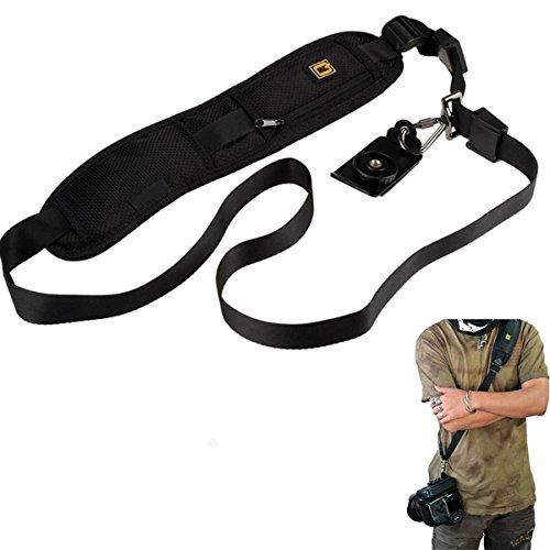 E-Bestar Tracolla per fotocamera, nera, con cinghia, per SLR, DSLR, Nikon, Canon, Pentax, Olympus, Sony, Samsung