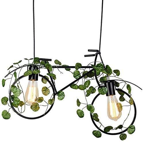 Pkfinrd Jue kroonluchter, retro industriële installatie fiets kroonluchter thema restaurant kunst lamp creatieve persoonlijkheid bar bar verlichting