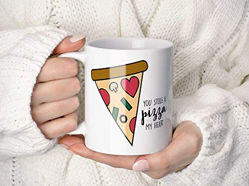 Lplpol Decorative White Mug You Stole A Pizza My Heart Coffee Mug Or Coffee Cup,Pizza Gift,Gift For Girlfriend Or Boyfriend,Pizza Coffee Mug Or Coffee Cup Gift 15 oz