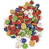 THE TWIDDLERS 96 Mini Borradores de Frutas para Niños| Recompensas en el Aula, Fiesta de Cumpleaños, Rellenos de Piñata , Bolsas de Fiesta, Regalos, Premios para Infantiles.