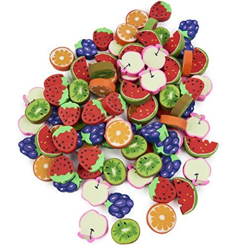 THE TWIDDLERS 96 Mini Obst Radiergummis...