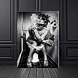 wtnhz Kein Rahmen Frauen Wohnkultur Malerei Poster auf
