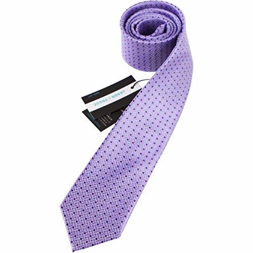 9cm lavanda Violeta Lunares cuadros corbata Diseño clásico corbata hombres fiesta casual trabajo banquete Boda novio caja de regalo