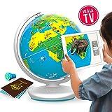 PLUGO Globe Terrestre Interactif - Jeux Educatif en Réalité Augmentée: Géographie, Culture, Multi Jeux, Quizz, Défis, Aventures…