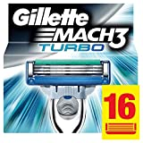 Gillette Mach3 Turbo Lames De Rasoir Pour Homme – 16Recharges
