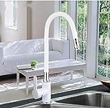 Robinet Bassin Robinet Machine À LaverBlanc flexible évier de cuisine robinet en laiton 360 degrés rotatif robinet de cuisine robinet mélangeur robinet de cuisine