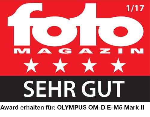 Olympus OM-D E-M5 Mark II Kit, Micro Four Thirds Systemkamera (16,1 Megapixel, 5-Achsen Bildstabilisator, elektr. Sucher) + M.Zuiko 12-40mm PRO Universalzoom + Power-Akkuhalter & Akku, silber/schwarz