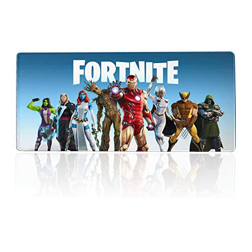 Large Gaming Mouse Pad for Fornite-Season 4 Battle Skins,Mousepad with Non-Slip Rubber Base & Stitched Edges,Waterproof Mouse Mat,Laptop Desk Pad,Computer Keyboard and Mice Combo Pads 23.6x11.8 inch
