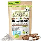 Maniokmehl Bio Cassava Mehl │1000g +100g extra XXL Vorteilspack 1,1kg│Paleo, Glutenfreies Mehl, Vegan, keine Gentechnik, kontrollierte Bio Qualität│kontrolliert und abgefüllt in...