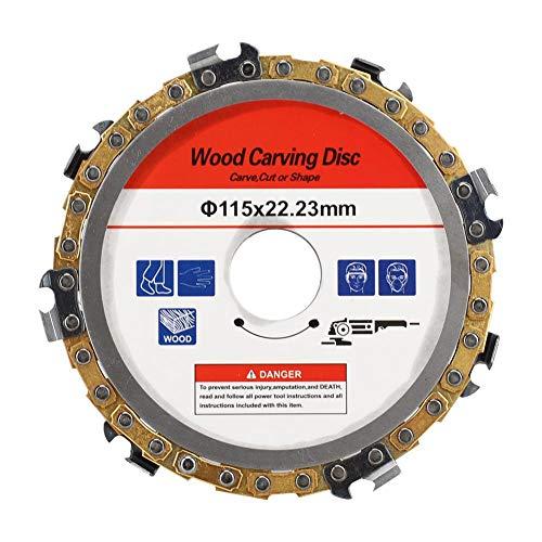 Disco de cadena de talla de madera, Accesorio de repuesto de disco de cadena de amoladora angular de 115 mm de amoladora para madera, madera contrachapada, metal