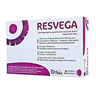 RESVEGA - 60 capsules - dietary supplement that helps to maintain normal vision due to the presence of zinc - NEW by Thea Polska