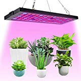 Favrison LED Grow Lights for Indoor Plants Growing Lamp Full Spectrum 100W LED Plant Light for Greenhouse, Hydroponic, Veg, Succulents, Seedlings and Flower (75PCS LEDs)