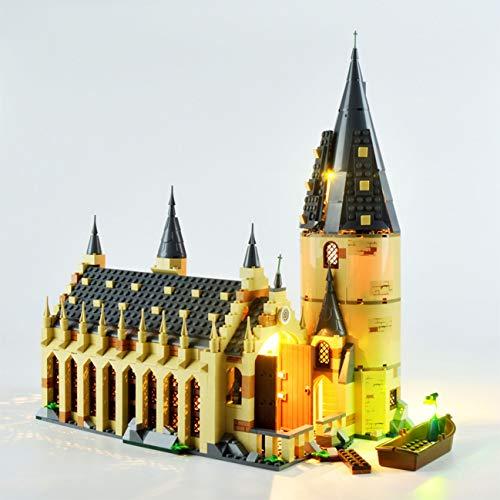 Hima LED-Beleuchtungsset für Lego 75954, das LED-Beleuchtungsset für Mauerwerk Kompatibel mit Harry Potter Hogwarts Bausatz für die Große Halle, ohne Lego-Modell