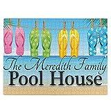 pengxuelinshop Puzzle en bois de 520 pièces, « Welcome To Our Pool House » pour adultes et enfants.