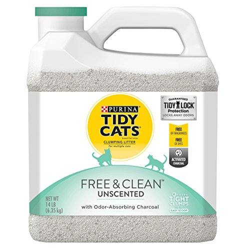 Purina Tidy Cats Clumping Cat Litter, Free & Clean Unscented Multi Cat Litter - (3) 14 lb. Jugs