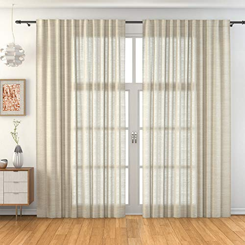 domus&trend Sofia - Cortinas para casa de decoración elegantes, fabricadas en Italia, de excelente calidad, fabricadas íntegramente en Italia (beige)