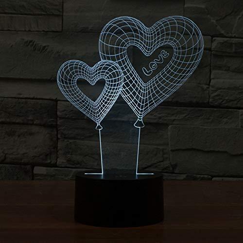 Europees-Style Best-Sellende Energiebesparende Lampen 3DSB Nieuwe Nacht Licht Liefde Ballon Modelleren Creatieve Lichten