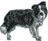 Sewing Embellishments & Finishes 2 1/2 x 3 1/4 Border Collie Full Body Dog Breed Embroidery Patch (Great for Towels, Blankets, Pillows, Purses, Backpacks, Jackets)