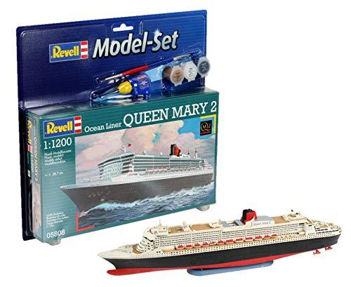 Revell - Maqueta Modelo Set Ocean Liner Queen Mary 2, Escala 1:1200 (65808)