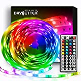 DAYBETTER Led Strip Lights 32.8ft Kit with Remote and Power Supply Color Changing